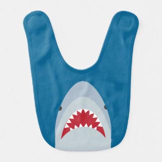 Babero del bebé del tiburón