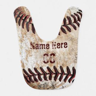 Babero del béisbol del vintage para el bebé