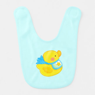 Babero Ducky de goma del bebé
