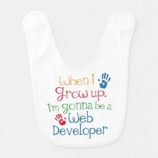 Babero futuro del bebé del desarrollador de Web