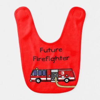 Babero futuro del coche de bomberos del bombero