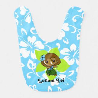 Babero hawaiano del hibisco del chica de Hula de l