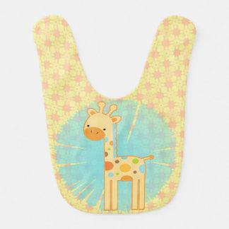 Babero lindo de la jirafa