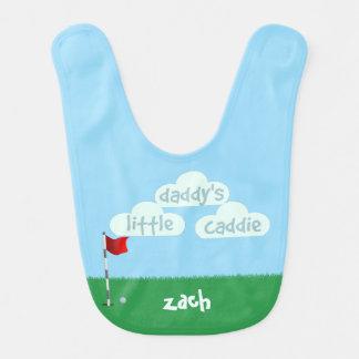 Babero lindo del bebé del golf del pequeño caddie