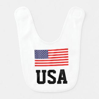 Babero patriótico del bebé con la bandera american