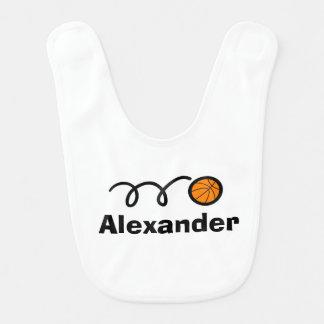 Babero personalizado del bebé del baloncesto con e