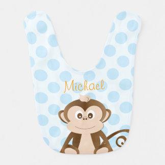 Babero personalizado del bebé del mono