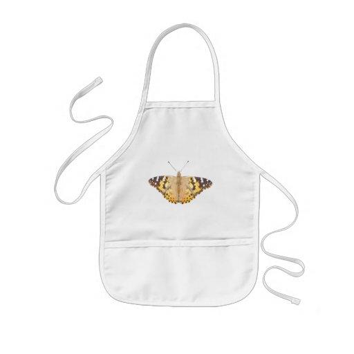 Babero pintado del bebé del ~ de señora Butterfly Delantales