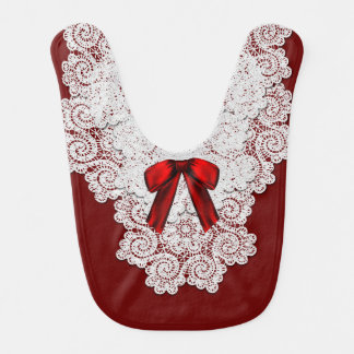 Babero rojo y blanco elegante del bebé de la ocasi