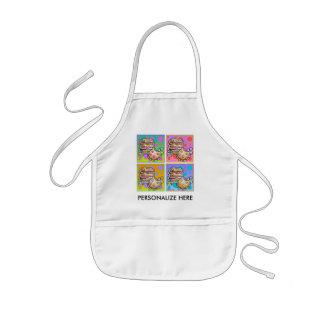 Baberos del bebé - galletas del arte pop delantales