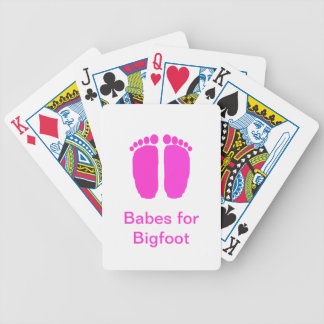 Babes for Bigfoot Bicycle Playing Cards
