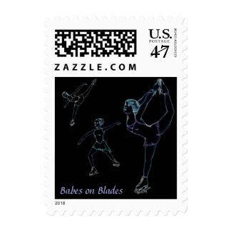 Babes on Blades Postage Stamp 3