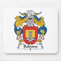 Babiano Family Crest Mousepad