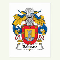 Babiano Family Crest Postcard