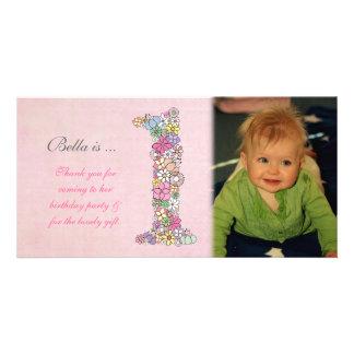 Babies 1st Birthday Thank You Photo Card