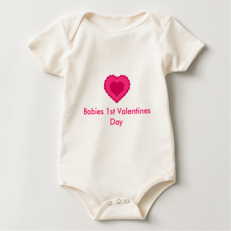 Babies 1st Valentines Day Baby Bodysuit