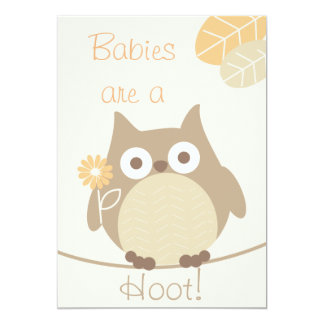 Babies Are a Hoot Owl Neutral Baby Shower Announcement