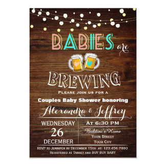 Babies Are Brewing Baby Shower Invitation