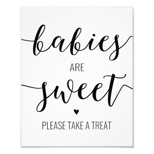 Babies Are Sweet Take A Treat Baby Shower Sign Zazzle