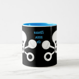BABIES ARRR US! Two-Tone COFFEE MUG