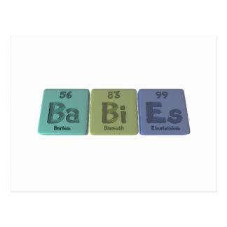Babies-Ba-Bi-Es-Barium-Bismuth-Einsteinium Postcard