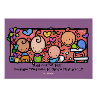 Babies Babies everywhere! Customizable poster