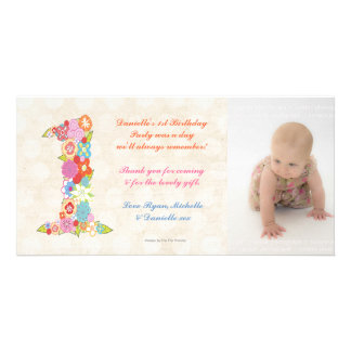 Babies Baby 1st Birthday Thank You Photo Card
