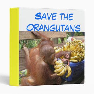 Babies & Bananas in Borneo Vinyl Binders