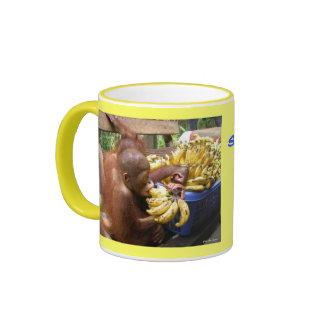Babies & Bananas in Borneo Ringer Coffee Mug