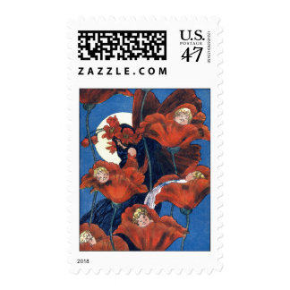 Babies Cradled in Poppies Postage