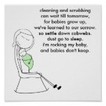Babies Don't Keep, Mommy, Green Poster