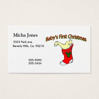 Babies First Christmas Business Card