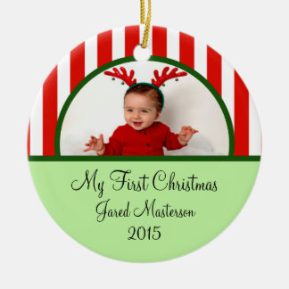 Babies First Christmas Photo Ornament