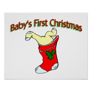 Babies First Christmas Poster