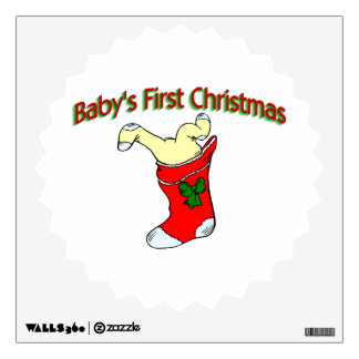 Babies First Christmas Room Decals