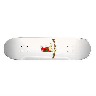 Babies First Christmas Skateboard