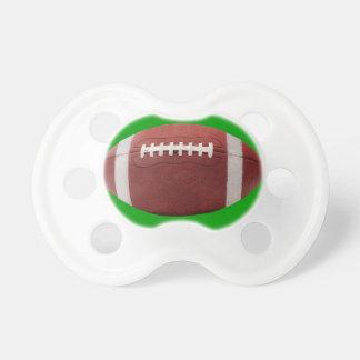 Babies First Football Pacifier on Green