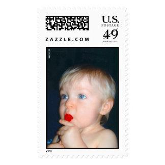 Babies first lollipop stamp
