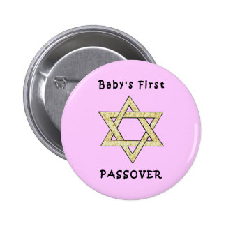 Babies First Passover Pinback Button