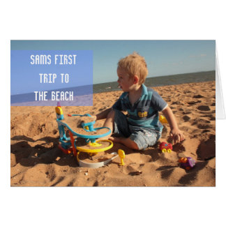 Babies First Trip to the Beach greeting Card