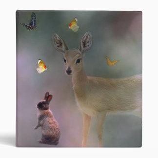 Babies forest fantasy vinyl binder