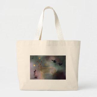 Babies forest fantasy large tote bag