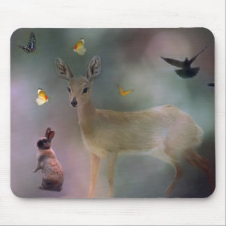 Babies forest fantasy mouse pad
