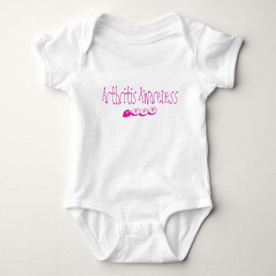 Babies get arthritis, too! - pink baby bodysuit