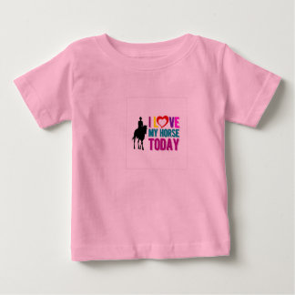 """Babies """"I Love My Horse Today"""" t-shirt"""