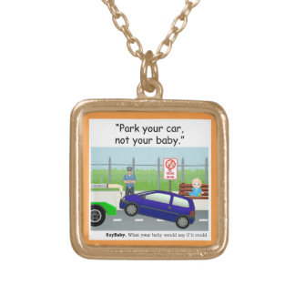 Babies in Cars Gold Plated Necklace