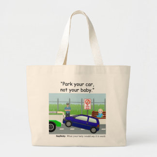Babies in Cars Large Tote Bag