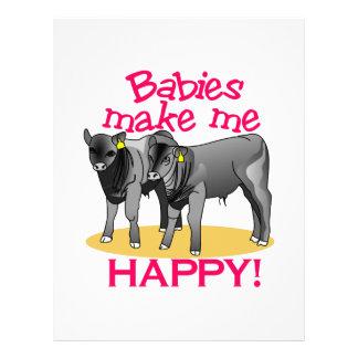 Babies Makes Me Happy Letterhead