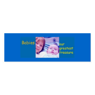 Babies - our greatest treasure Double-Sided mini business cards (Pack of 20)