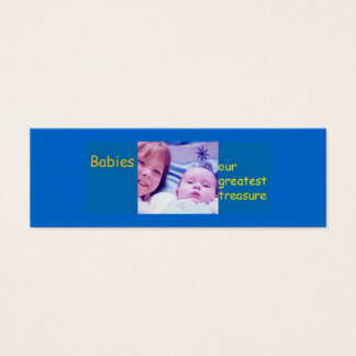 Babies - our greatest treasure mini business card